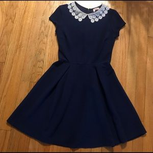 Love...Ady Navy Blue Skater Dress NEW OUT TAGS